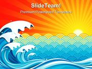 Surf Sun Background PowerPoint Templates And PowerPoint Backgrounds pp