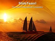 Sunset Sail Holidays PowerPoint Templates And PowerPoint Backgrounds p