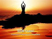 Sunset Yoga Exercise Health PowerPoint Templates And PowerPoint Backgr