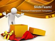 Surprise Gift Lifestyle PowerPoint Templates And PowerPoint Background