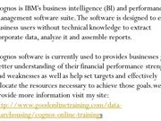 Cognos Online Training Real Time Export India
