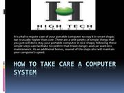 How to take care a Computer System