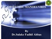 OBSTETRIC MANOEUVRES INANIMALS