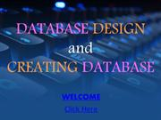 Database Design and Creating Database