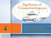 Impact of Transport Rankings in Auto Transport Industry