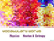 Newton & Entropy Vocab