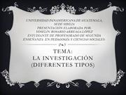 la investigacion y tipos de investigacion