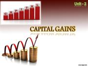 Unit-2  Capital Gains