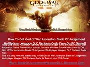 God of War Ascension Blade Of Judgement Weapon DLC - PS3