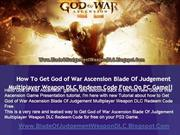 How To Download God of War Ascension Blade Of Judgement DLC