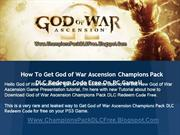 How to Download God of War Ascension Champions Pack Free