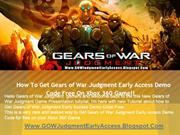How to Get Gears of War Judgment Early Access Demo Code
