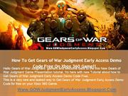 Gears of War Judgment Demo Game Code - Xbox 360