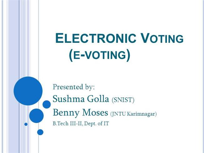 electronic voting e voting authorstream