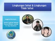 Lingkungan yang Sehat dan Tidak Sehat - PLH
