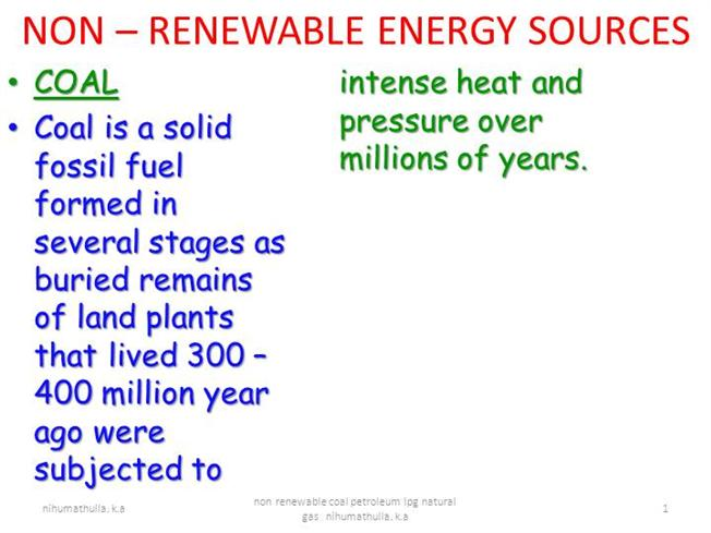 coal petroleum and natural gas are