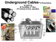 Underground cable-power system 1