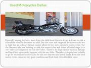 Used Motorcycles Dallas