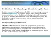 Cloud Solutions – Providing a Cheaper Alternative for Logistics Firms