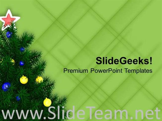 Decorate Christmas Tree This Winter Powerpoint Template Powerpoint