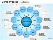 11 STAGES OF CIRCULAR PROCESS FLOW DIAGRAM BUSINESS STRATEGY