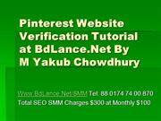 Pinterest Website verification Tutorial at BdLance
