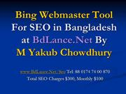 Bing Webmaster Tool For SEO in Bangladesh at BdLance