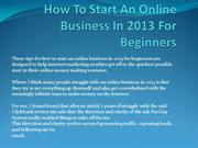 How To Start An Online Business In 2013