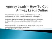 Amway Leads – How To Get Amway Leads