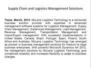 Supply Chain and Logistics Management Solutions