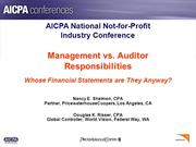 AICPA_Mgmt vs Auditor_NFPIC_June_2007