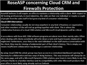RoseASP concerning Cloud CRM and Firewalls Protection