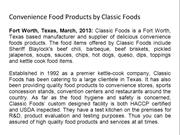 Convenience Food Products by Classic Foods