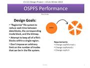 OSPFS Performance