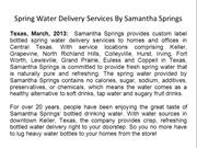 Spring Water Delivery Services By Samantha Springs