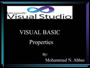 DISCUSSION ON VISUAL BASIC PROPERTIES