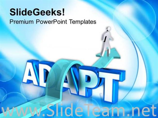 Adapt The Trend To Become Successful Powerpoint Template Powerpoint