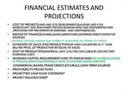 financial projections project management
