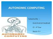 AUTONOMIC COMPUTING PRESENTATION