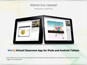 WizIQ Virtual Classroom app for iPads and Android tablets