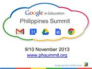 Google in Education Philippine Summit 2013