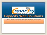 Hire Web Designer at CapacityWebSolutions