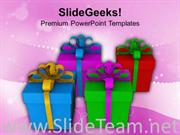 COLORFUL GIFTS FOR SPECIFIC EVENT POWERPOINT TEMPLATE
