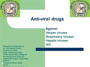 anti-viral drugs