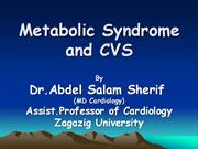 Metabolic syndrome &CVS