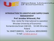 logistics and supply chain mngmnt ppt