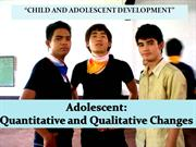 Child and adolescent Development2