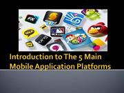 Mobile Application Development Presentation For Android Users
