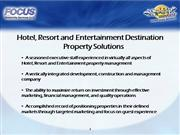 Focus Hospitality Services Company Overview