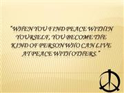 The Peace Quote